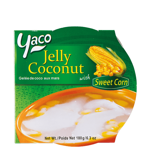 Frozen Coconut Jelly with Sweet Corn