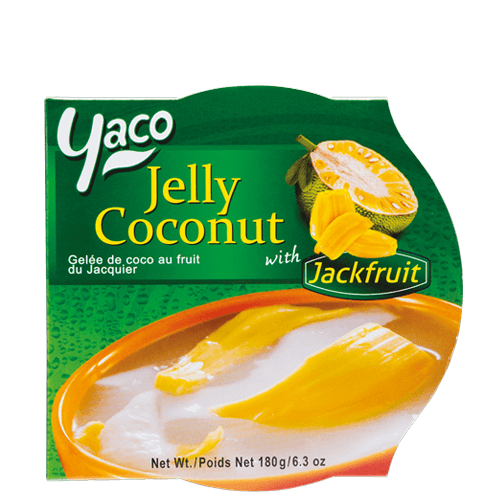 Frozen Coconut Jelly with Jackfruit