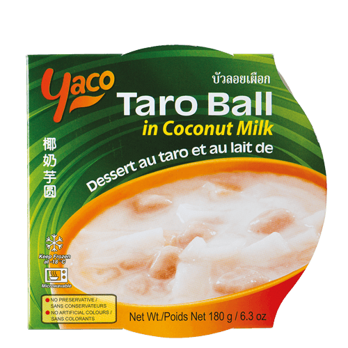 Frozen Taro Ball in Coconut Milk