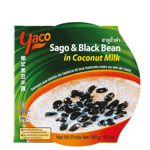 Frozen Sago & Black Bean in Coconut Milk