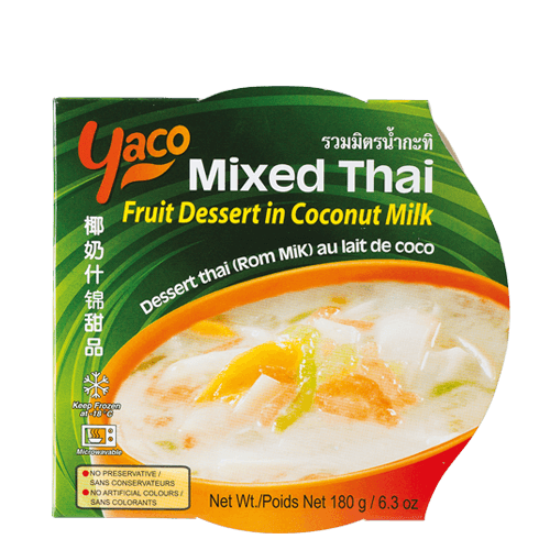 Frozen Mixed Thai Fruit Dessert in Coconut Mi