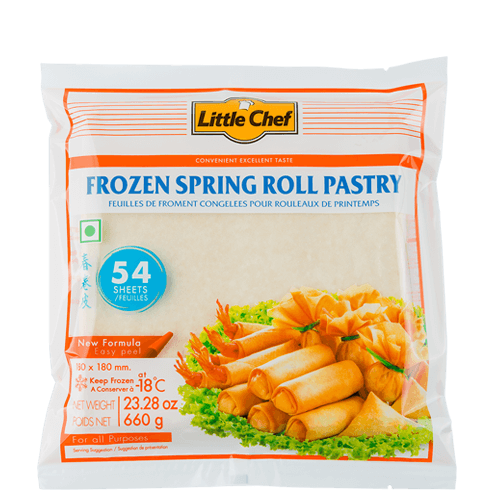 Frozen Spring Roll Pastry 7 SQ In