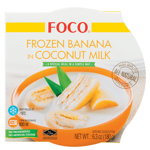 Frozen Banana in Coconut Milk