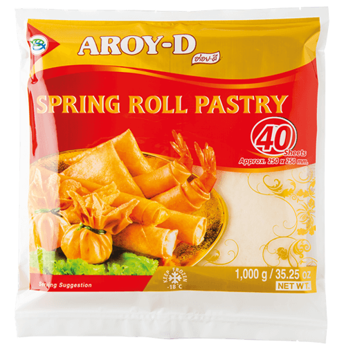Frozen Spring Roll Pastry 10 SQ In