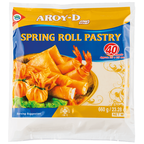 Frozen Spring Roll Pastry 8.5 SQ In