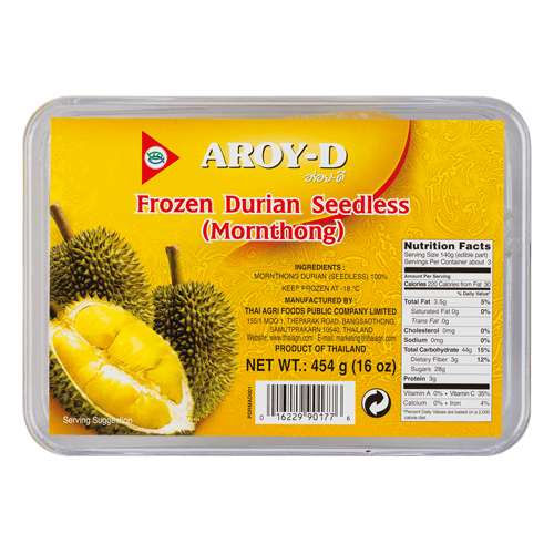 Frozen Monthong Durian Seedless