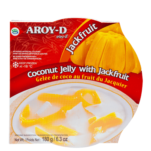 Frozen Coconut Jelly with Jackfruit Meat