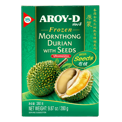 Frozen Mornthong Durian with Seed